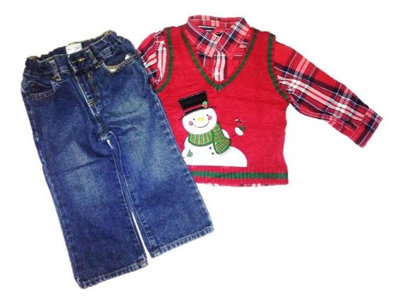 Camisa Y Pantalón Para Niño, Ropa De Navidad, Casual, Fiesta