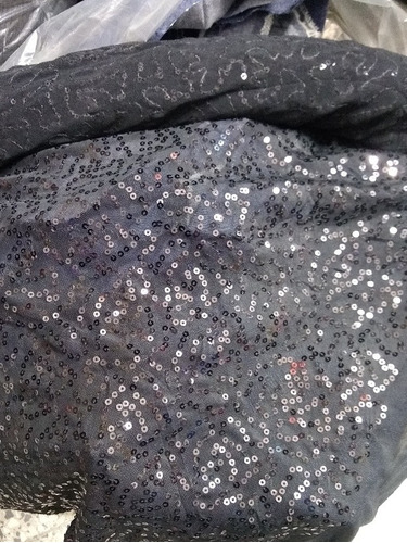 Tela Microtul  Negro Con  Lentejuelas