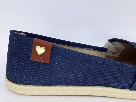 Alpargata Moleca Bege E Jeans Escuro 5287.110