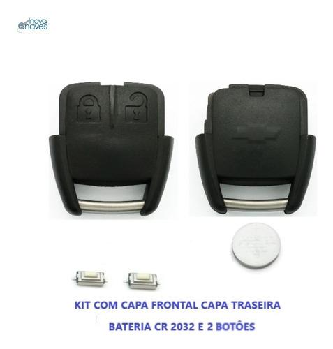Imagem 1 de 5 de Kit Capa Chave Agile Corsa Celta Montana C/ Bateria E Botões