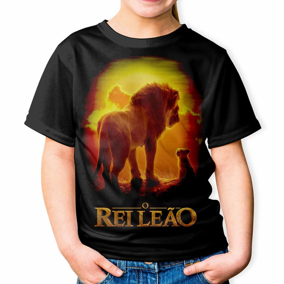 Camiseta Infantil Rei Leão Mufasa Simba Hakuna Matata Mod 62
