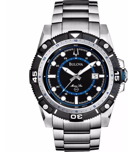 Relógio Bulova Masculino Marine Star Wb31729f Aço Oferta