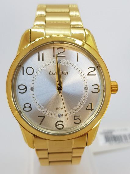 Relógio Feminino Dourado Condor + Brinde - Promoção