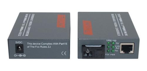 Convertidor Ethernet Transceiver Giga 1 Hilo Par A Y B Sc