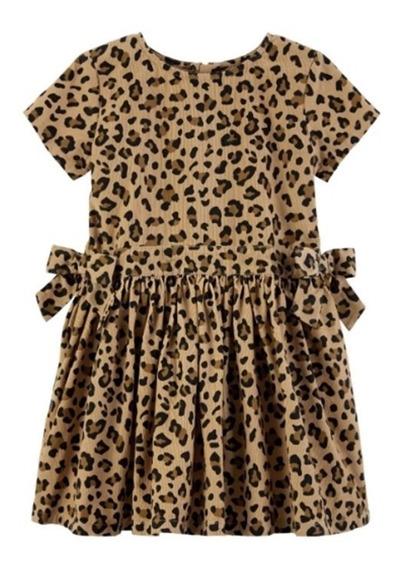 Carters Vestido Sarja Oncinha Aveludado 5 Anos Original Novo
