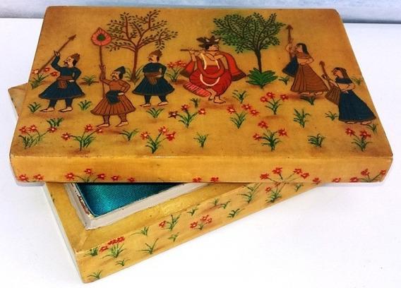 Antiguidade! Caixa Porta-joias Oriental Ricamente Ornada