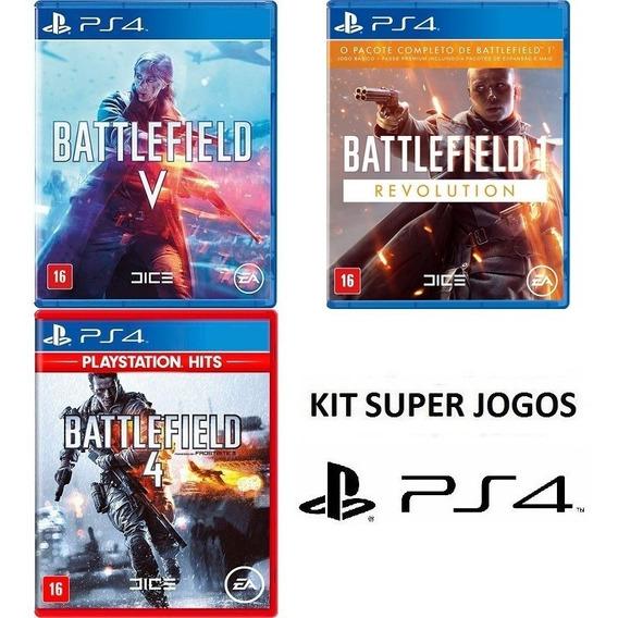 Battlefield 5 + 4 + 1 - Dublado - Midia Fisica Lacrado - Ps4