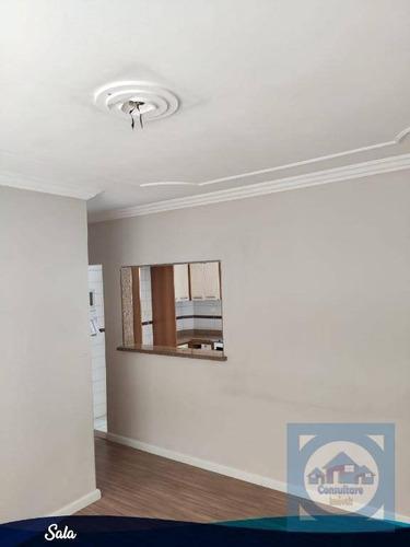 Apartamento Com 2 Dormitórios À Venda, 75 M² Por R$ 350.000,00 - Boqueirão - Santos/sp - Ap4351