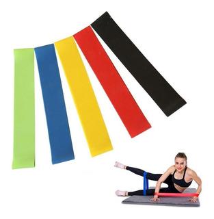 Pack 5 Bandas Loop 30cm Circulares Piernas Elásticas Pilates