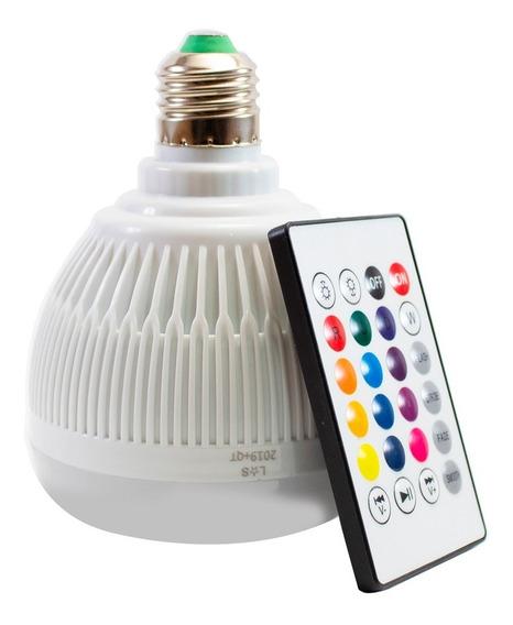 Lampada Musical Caixa Som Bluetooth Led Rgb Liquida Promoção