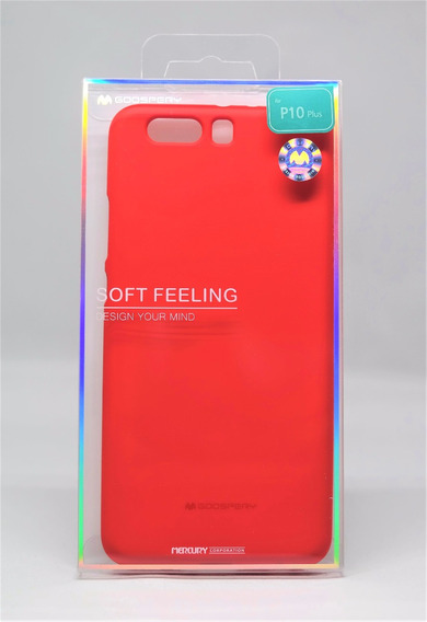 Funda Huawei P10 Plus Mercury Goospery Soft Feeling Rojo
