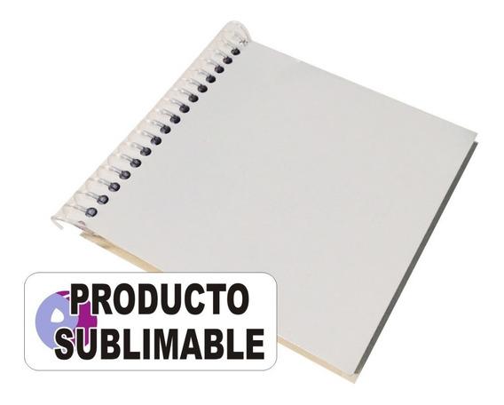5 Cuadernos Anotadores Sublimables 10 X 10 Cm Hojas Lisas