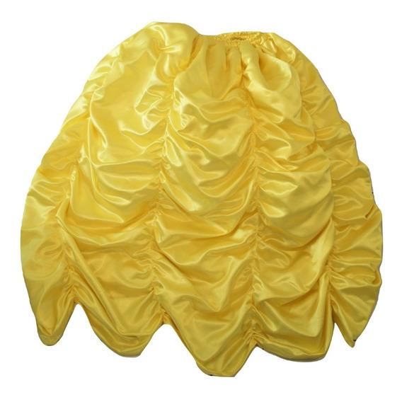 Falda Disfraz Amarilla Reina Princesa Mujer Mediana Grande