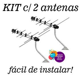 Kit 2 Antenas Compacta Digital Prohd-3630/01 Frete Grátis