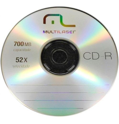 89 Mídias Cd-r Virgem Multilaser C/logo 52x 700mb 80min