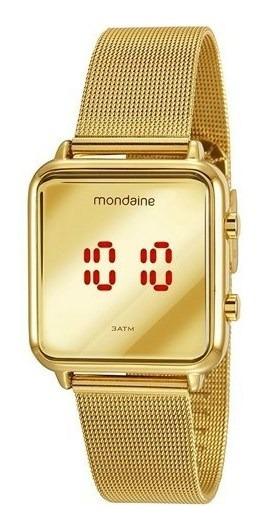 Relógio Mondaine Feminino Digital Dourado 32008mpmvde1