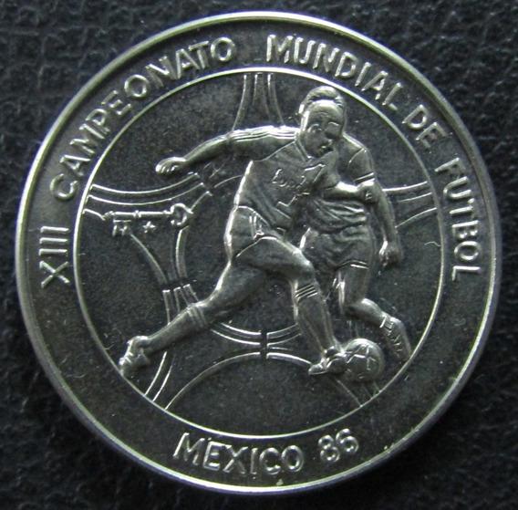 Cuba Moneda 1 Peso 1986 Unc Km 122 Mundial Futbol Mexico 86