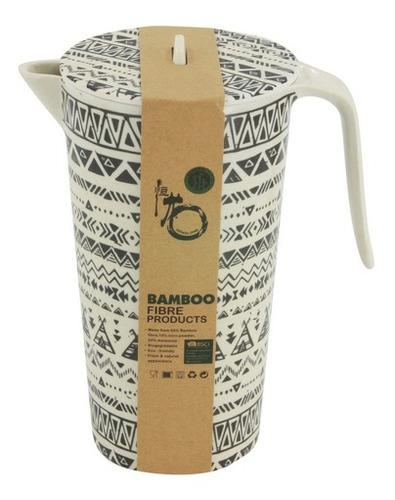 Imagen 1 de 5 de Jarra De Fibra De Bambú, 1800ml, 2 Diseños