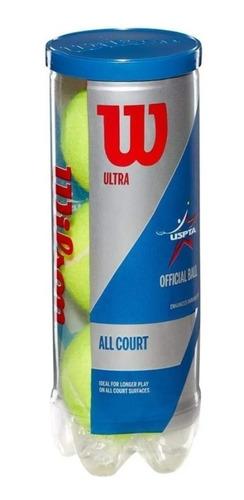 Imagen 1 de 5 de Tubo De Pelotas De Tenis Wilson Ultra X3 Profesionales