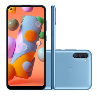 Celular Galaxy A11 64gb Câmera Tripla 13mp Tela 6.4 - Azul