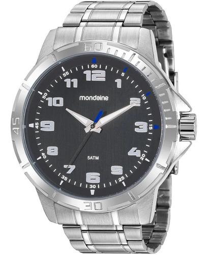 Relógio Masculino Mondaine Analogico Prata Original Com Nfe