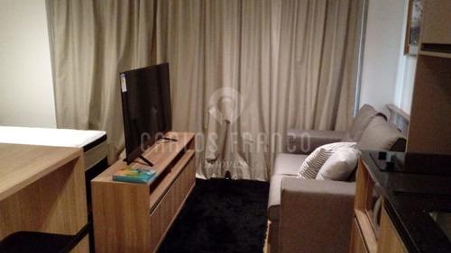 Imagem 1 de 10 de Apartamento Studio De 30m² Moderno, Mobiliado, Quarto/sala, Cozinha, Banheiro, I Vaga Em Pinheiros - Cf43357