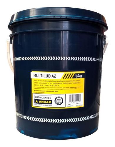 Grasa Multipropósito Litio Multilub A2 Ancap 3,5 Kg Js Ltda