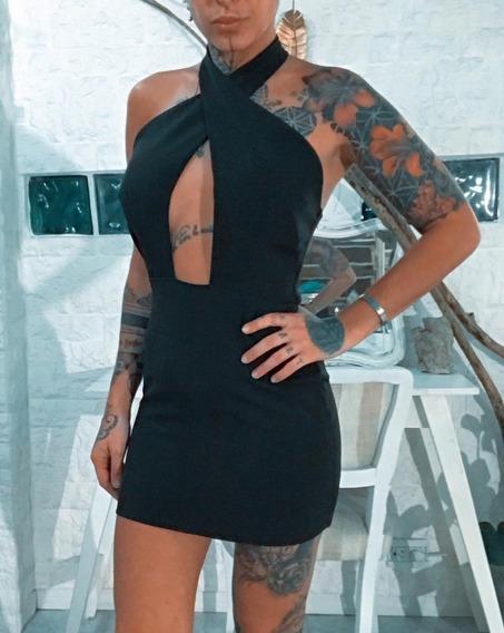 Vestido Corto Importado Talle S - M - L Mujer Dama Art 7042