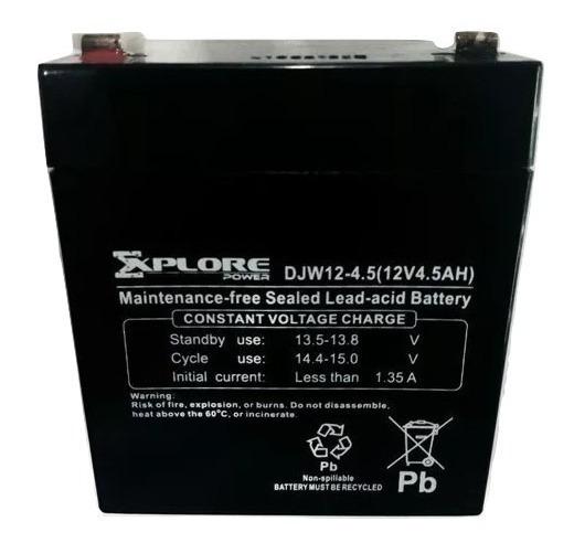 Bateria Ups 12v 4.5ah Alarma Lampa Moto Pila 4.5a 4.5amp 4.5