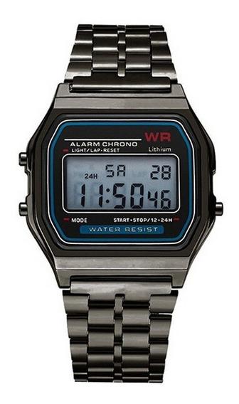 Relógio Feminino Preto Vintage Retro Digital Barato Luxo