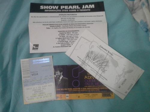 Ingresso - 1º Show Pearl Jam No Brasil - Sp 2005 - Coleção