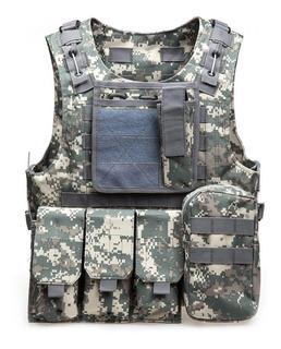 Chaleco Táctico Militar Ejército Gotcha Paintball