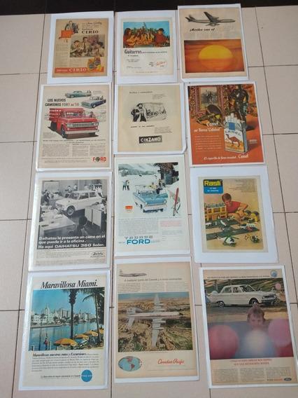 Láminas De Publicidades Originales Antiguas,lote (11)