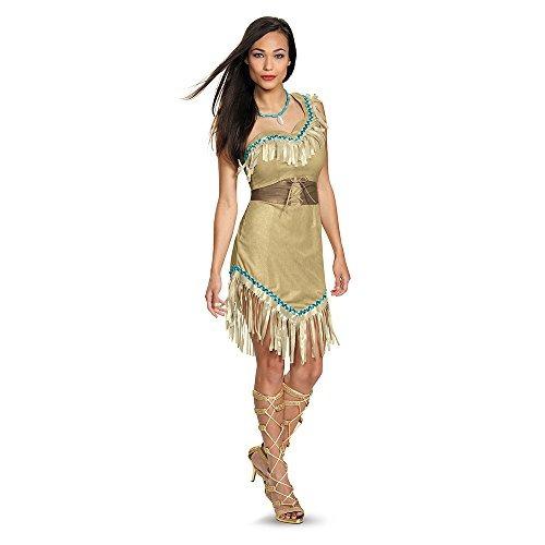 Pocahontas Traje Adulto De Lujo De Las Mujeres Disfraz, Mul