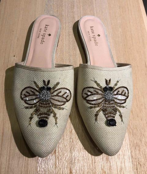Zapatos Blancos Con Diseño De Abeja! Marca Kate Spade