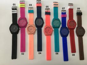 Kit 10 Relógio Atacado Pulso Feminino Colorido De Silicone
