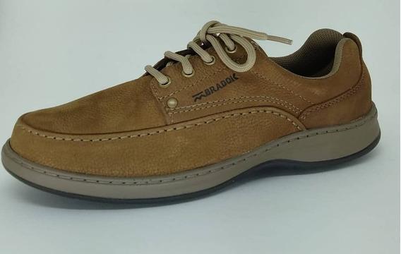 Sapato Bradok Classic Nobuk Castor Csc9321-260 Em Couro