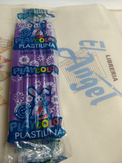 Plastilina Playcolor X 200 Grs Violeta / Ideal Jardin