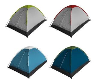 Carpa De Camping 2 Personas Poliester Domo Calidad Premium