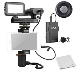 Movo Teléfono Inteligente Kit De Vídeo V2 Con Agarre De Riel