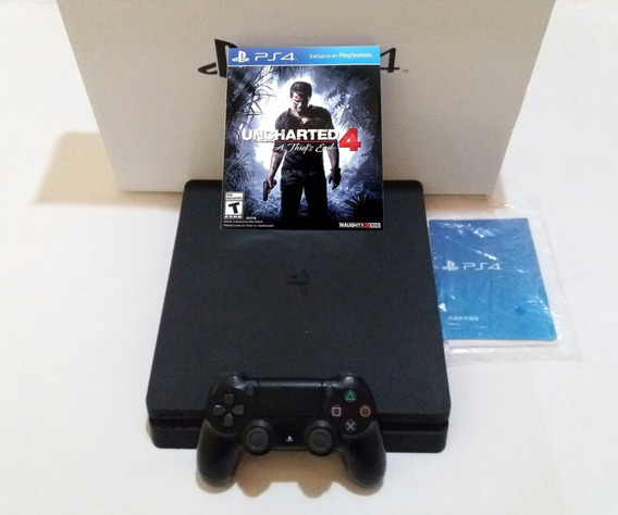 Ps4 Slim 500gb Playstation 4 Hdr + Jogo Uncharted 4