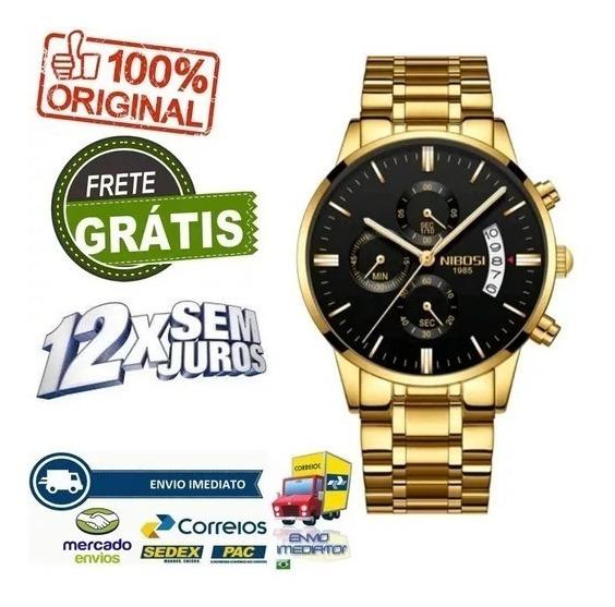 Relógio Nibosi C/ Frete Grátis
