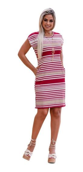 Vestido Feminino Midi Soltinho Festa Social Moda Evangelica Acompanha Colar