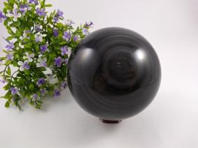 Esfera De Obsidiana Arco-íris Ótimo Polimento J 100