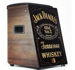 Cajón Elétrico Acústico Profissional Jack Daniels