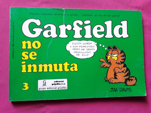 Garfield - No Se Inmuta Nº 3 Jim Davis Mexico 1986 Grijalbo