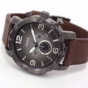 Relógio Masculino Fossil Jr1424 Nate Mostrador Quartz Brown