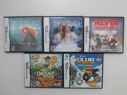Lote X5 Juegos Originales Para Nintendo Ds