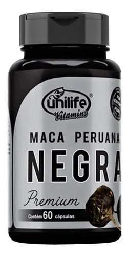 Maca Peruana Negra Premium 60 Cápsulas - Unilife