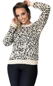 Blusa Basica De Frio Tricot Trico Roupa Feminina Inverno